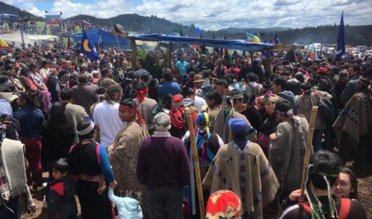Mass farewell Camilo Catrillanca mapuche community of Temucuicui