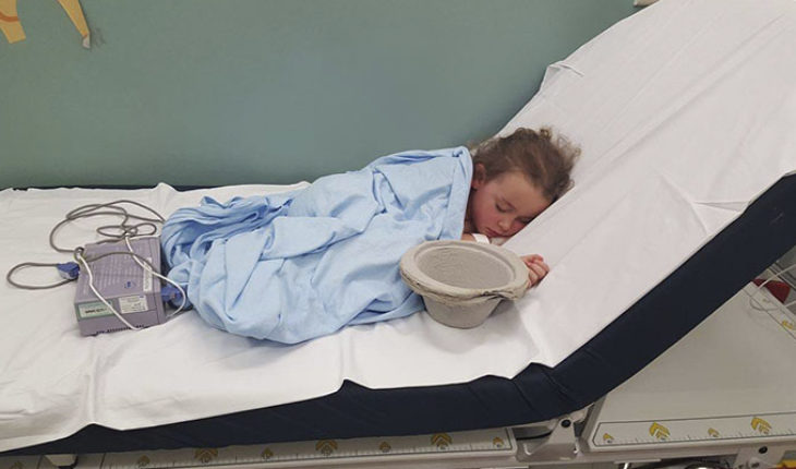 Mother spreads image of her daughter in the hospital, after suffering bullying
