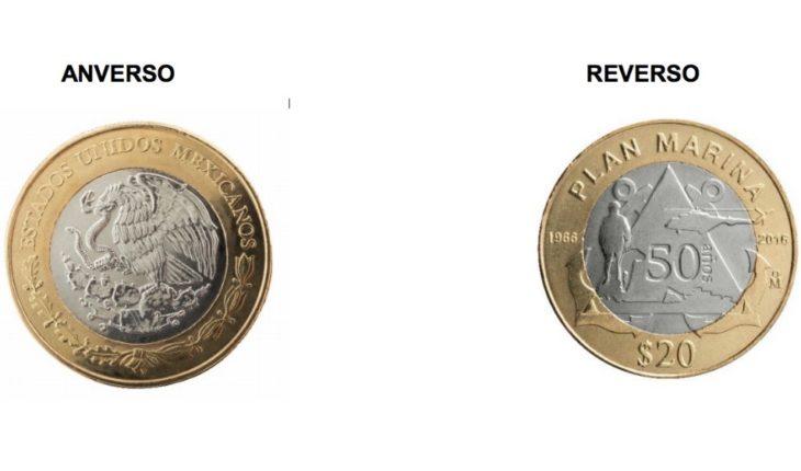 Ponen en circulación moneda conmemorativa de la Marina en circulación