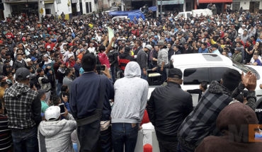 Register in Uruapan, Michoacan, mass demonstration of avocado