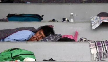 """The first migrants of the caravan arrive in the city of Mexico, a """"crucial"""" point in his journey"""