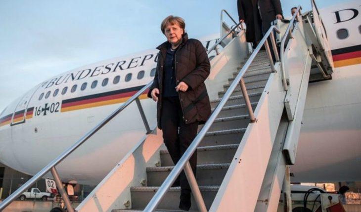 Una demora impensada, ¿qué pasó con el avión de Angela Merkel?