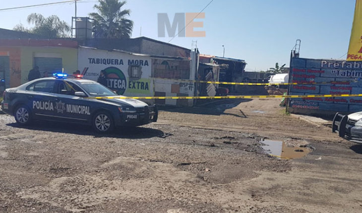 Within a tabiquera in Morelia, Michoacan, kill shot a man