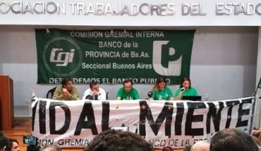 Workers of the Banco Provincia criminally told Vidal for diverting funds