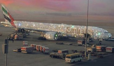 """Así es el lujoso """"Bling 777"""", el avión de Dubai tapizado de diamantes"""