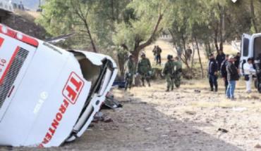 Cae autobús de puente en San Luis Potosí, reportan 7 muertos