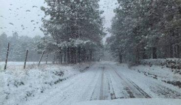 Caerá nieve y/o aguanieve en Sonora, Chihuahua, Durango y Coahuila, debido al frente no. 21