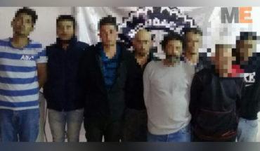Detienen en Zamora a ocho presuntos miembros de grupo criminal