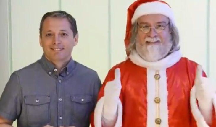 El Papá Noel que suspiró con Macri ahora sonríe con un intendente del PJ