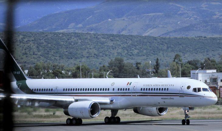 El avión presidencial partirá el lunes para ponerse en venta