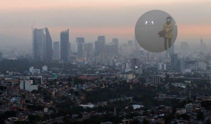 Hoy sábado la calidad del aire en la Ciudad de México es mala