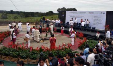 Pone AMLO en marcha la construcción del Tren Maya