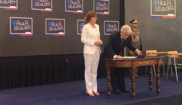 """Presidente Piñera promulgó la Ley Aula Segura: """"Primó la cordura"""""""
