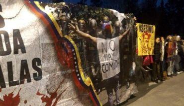 Protestan contra Nicolás Maduro en Cámara de Diputados