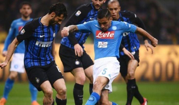 Qué canal transmite Inter vs Napoli en TV: Serie A 2018, partido este miércoles