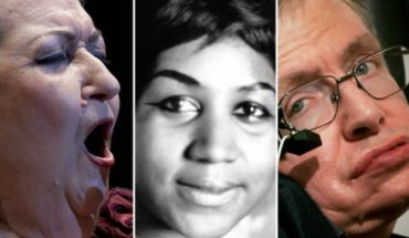 Stephen Hawking y otros famosos que murieron en 2018