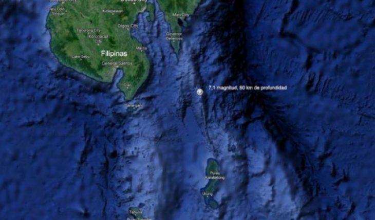 Terremoto de magnitud 6,9 sacude a Filipinas