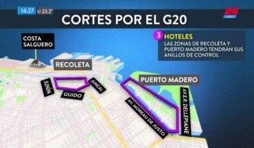 Estos son los cortes en la ciudad por el operativo del G20
