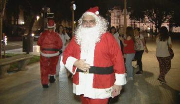 Navidad solidaria en Plaza de Mayo