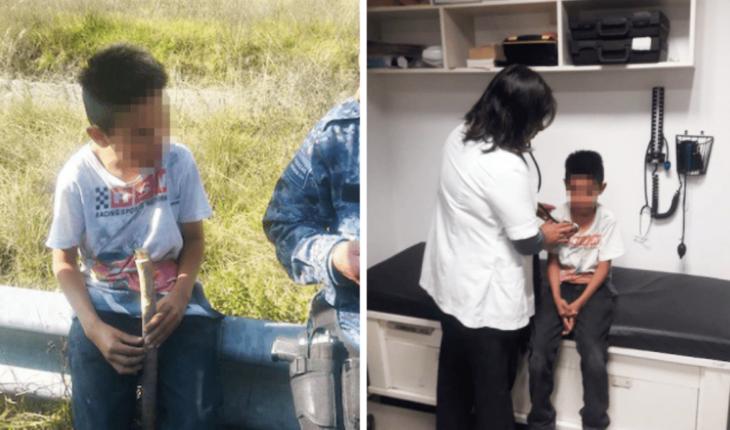Abandonan a niño de 10 años en la carretera México-Pachuca