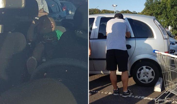 Dejaron a su bebé en el auto mientras hacían las compras