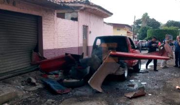 Estalla camioneta con pirotecnia en Tangancícuaro, Michoacán hay un muerto y un herido