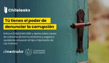 Intelligent citizen and El Mostrador launch platform so that citizens denounce corruption of secure and anonymous way to