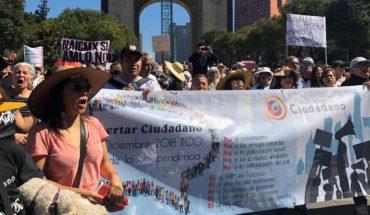 March in CDMX against authoritarianism