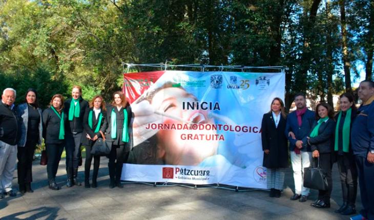Start free dental day in Pátzcuaro, Michoacán