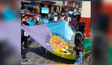 Tension in Canada of eleven villages in Chilchota, Michoacán