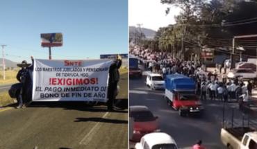 Tras 9 horas, SNTE retira bloqueos en Hidalgo