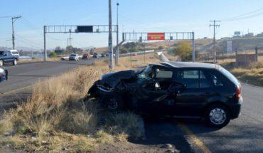 Un lesionado en choque entre auto y camioneta en Morelia