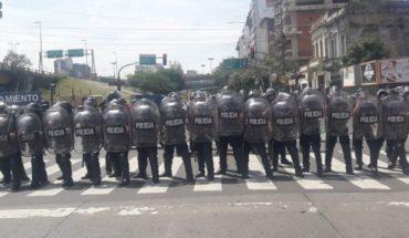 Voltage: Police prevents advancement of a mobilization towards Social Development