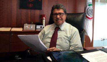 Will tomorrow initiative on jurisdiction: Ricardo Monreal