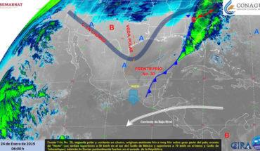 Ambiente frío con posibles heladas matutinas en estados de la Mesa del Norte y Mesa Central