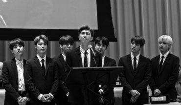 El grupo BTS, uno de los mayores exponentes del K-pop, durante su participación en el evento de alto nivel sobre la Estrategia Juventud 2030 de la ONNU y el lanzamiento de la iniciativa Generación sin límites organizada por UNICEF. Foto: © UN Photo/Mark Garten.