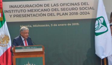 López Obrador promete en Morelia, Michoacán enfrentar corrupción en el IMSS