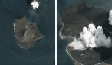 Nuevas imágenes del Krakatoa que muestran el derrumbe del volcán