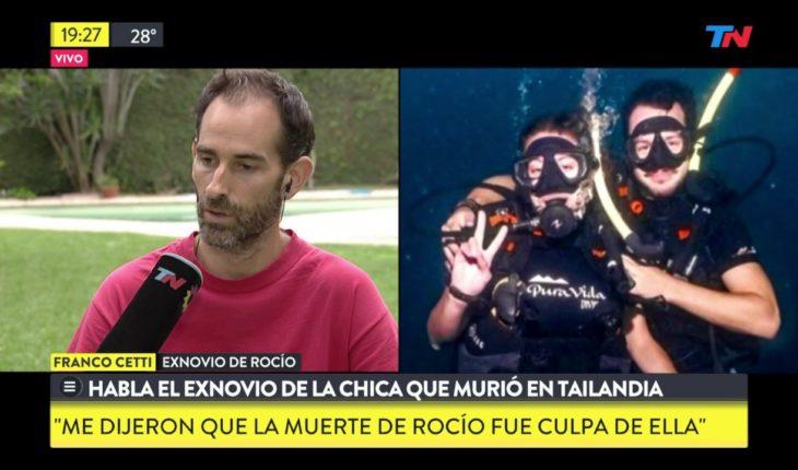 Habló la expareja de la buceadora argentina que murió en Tailandia