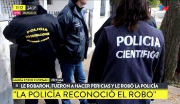 Le robaron y la policía que fue a hacer pericias le robo $27 mil pesos