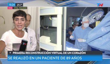 Priemera reconstrucción virtual de un corazón