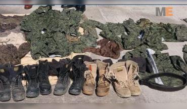 armas, cartuchos, uniformes tipo militar, equipo táctico y droga