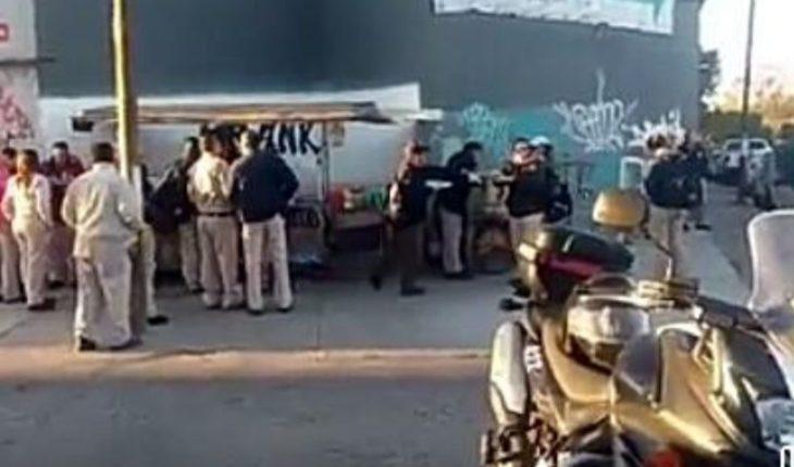 Dejan van with explosives in Salamanca refinery