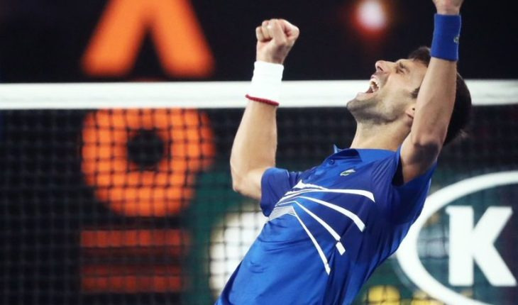 """Djokovic was crowned as the """"winningest"""" of the Australia open after crushing in the final to Nadal"""