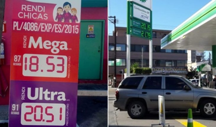 Lower the price of gasoline at some stations of Tijuana
