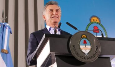 Mauricio Macri and his first official act of the 2019