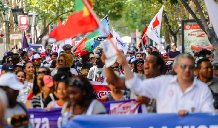 Migrant organisations marched through the center of Santiago against the new law