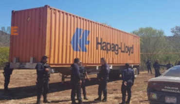 Recover two stolen containers and semi-trailer, in en lazaro cardenas Lazaro Cardenas