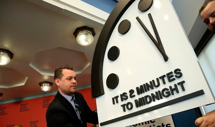 The doomsday clock indicates that the end of the world is near, say scientists photo