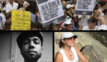 They will not close the night schools, spoke the breast of the woman murdered in Bariloche, racist attack on actor, and more...